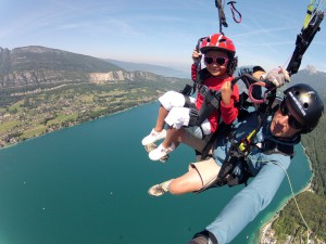 Paragliding over Lake